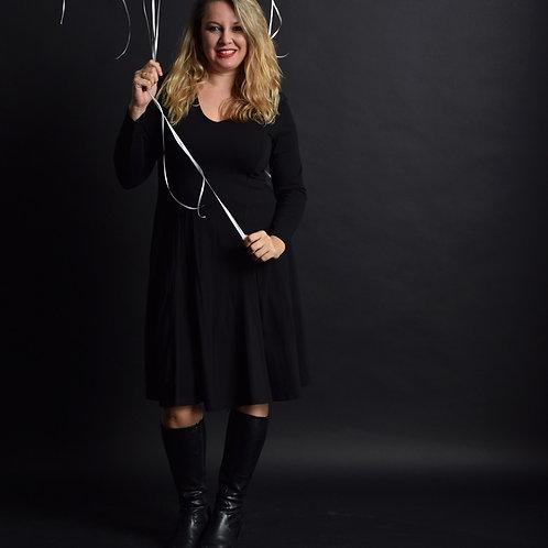 שמלת אנג'לה שחורה