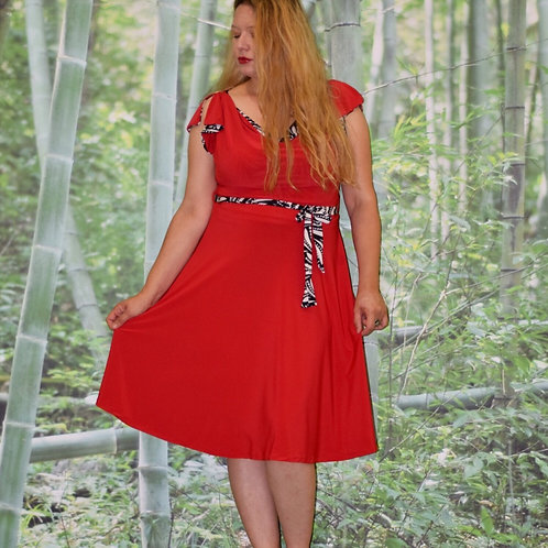 שמלת פריס אדומה
