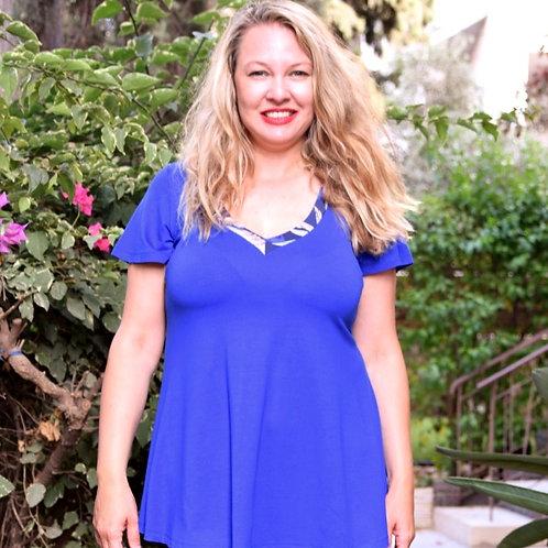 חולצת מאיה כחול רויאל