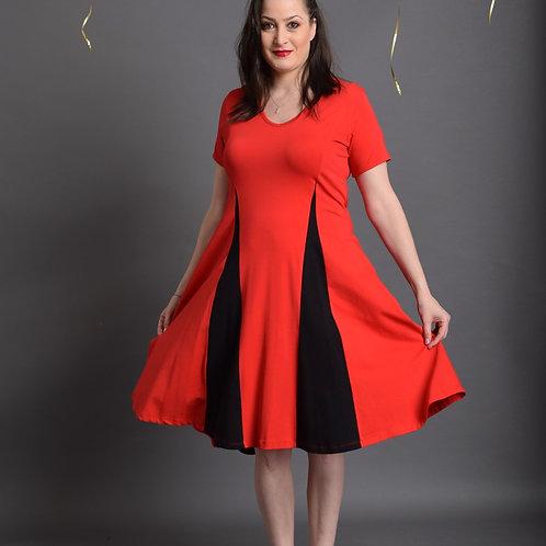 שמלת אנג'לינה אדום שחור