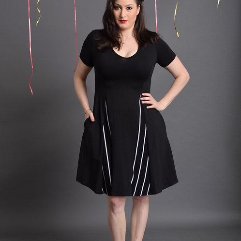שמלת אנג'לינה שחורה