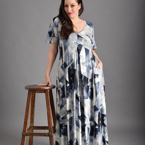 שמלת קרח כחול איריס מקסי
