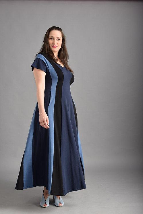 שמלת שמש מקסי כחולים