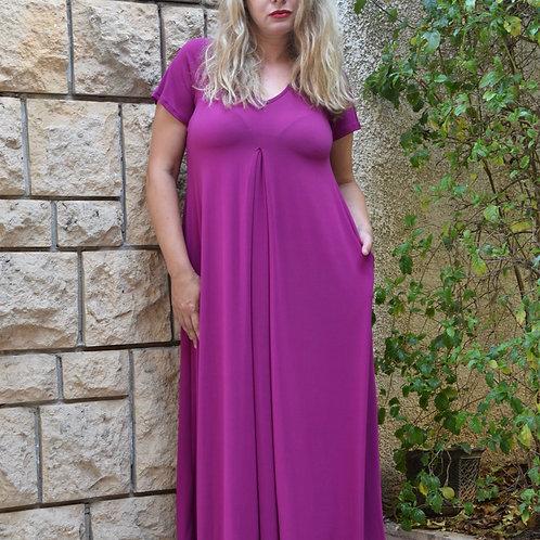 שמלת איריס מקסי פוקסיה סגול