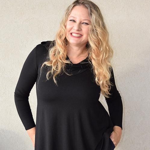 חולצת מיכאלה שחורה