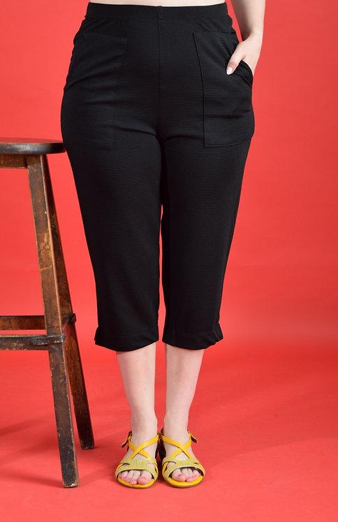 מכנסי קפרי שחורים