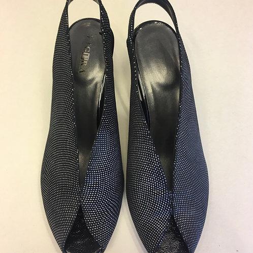 נעלי שאנל שחור כסוף