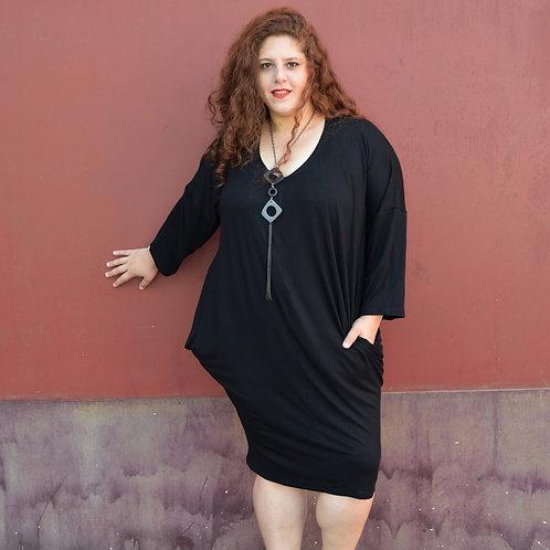 שמלת ירדן שחורה