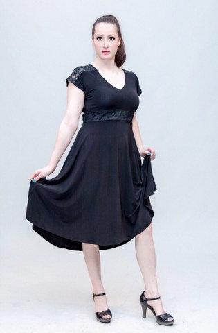 שמלת רוני ערב שחורה