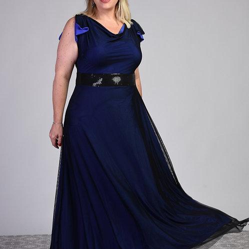 שמלת ערב פריס מקסי סגולה