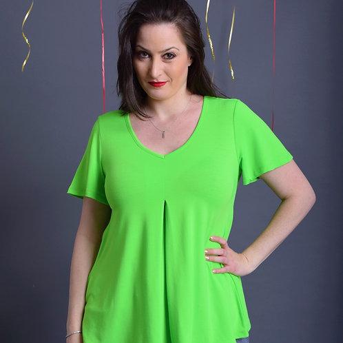 חולצת איריס ירוק זוהר