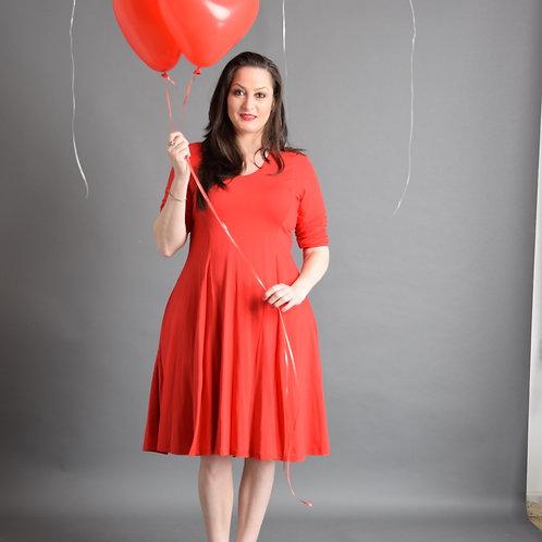 שמלת אנג'לה אדומה