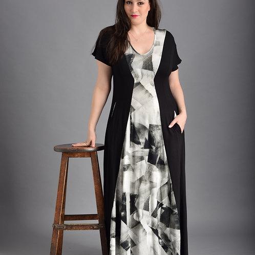 שמלת שמש מקסי קרח שחור