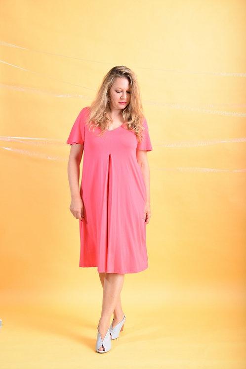 שמלת איריס ורודה