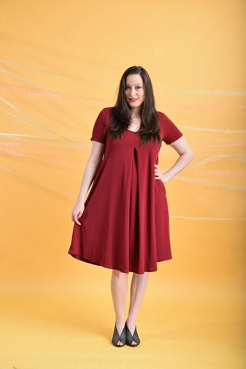 שמלת איריס בורדו