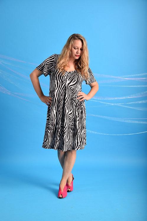 שמלת איריס זברה