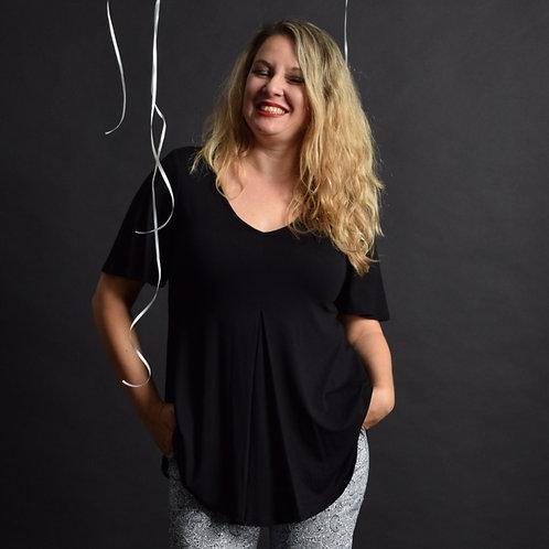 חולצת איריס שחורה