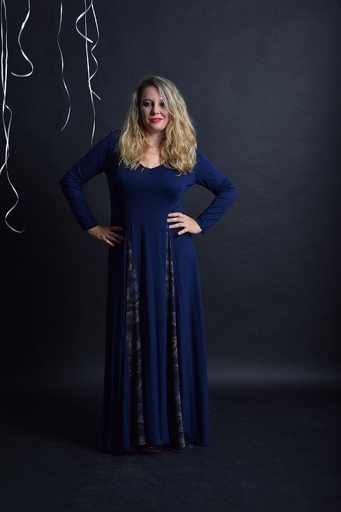 שמלת אנג'לינה מקסי כחולה