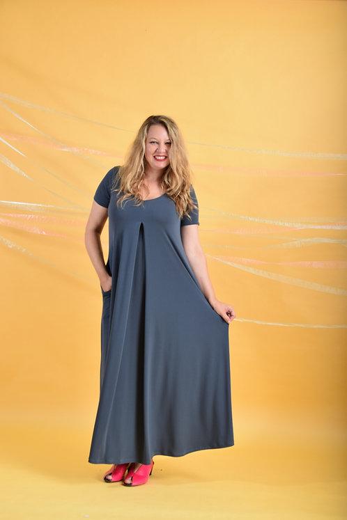 שמלת איריס מקסי אפורה