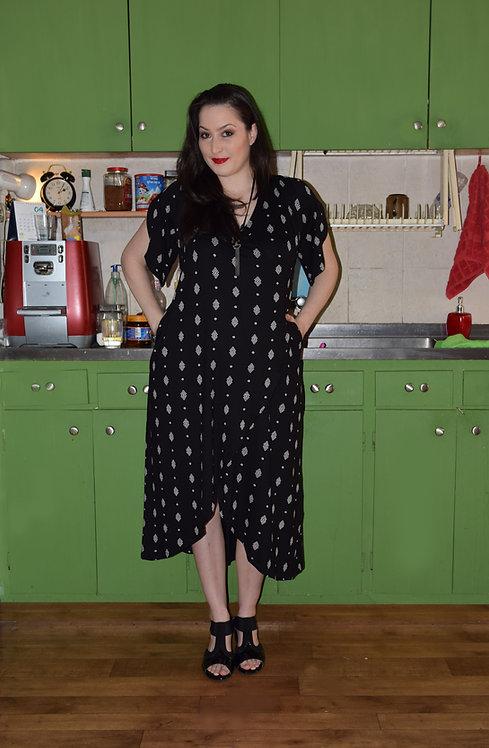 שמלת כוכב שחור מעויינים אורך מידי