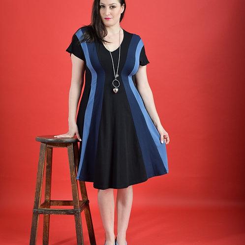 שמלת שמש שחור כחול