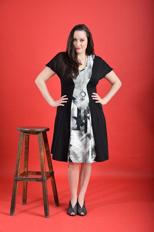 שמלת שמש אפור שחור