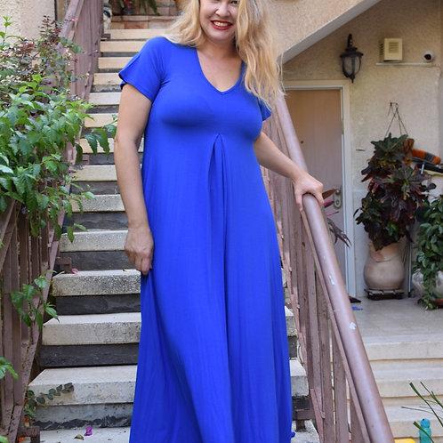 שמלת איריס מקסי כחול רויאל