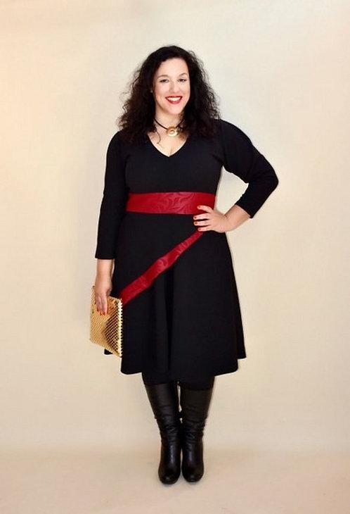 שמלת מם שחור בורדו