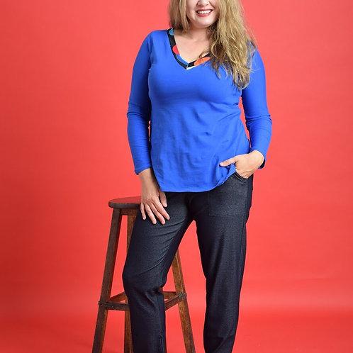 מכנסי אליפות ג׳ינס כחול כהה