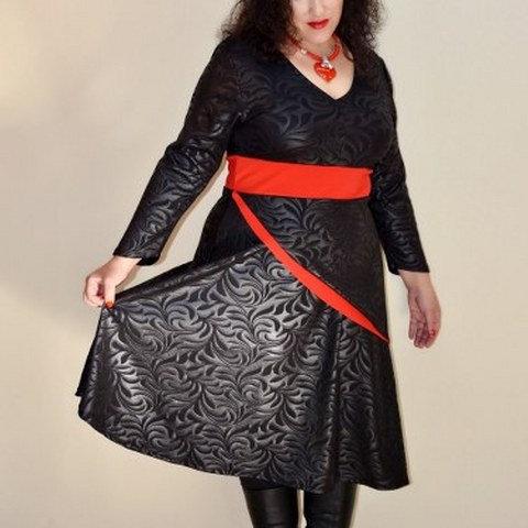שמלת מם שחור אדום