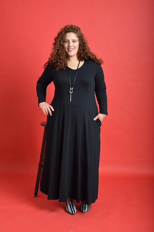 שמלת אנג׳לה מקסי שחורה