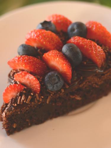 Brownie com frutas