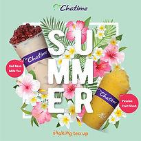 Chatime red bean milk tea, passion fruit slush (Chatime UK Bubble Tea)