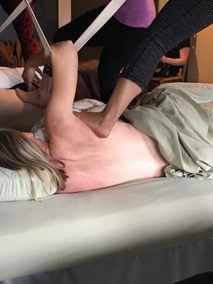 What is Ashiatsu Massage? Info featured by top ashiatsu training center, NC AShiatsu Barefoot Massage Training