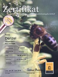 Zertifikat GOLD - Blütenhonig 2019