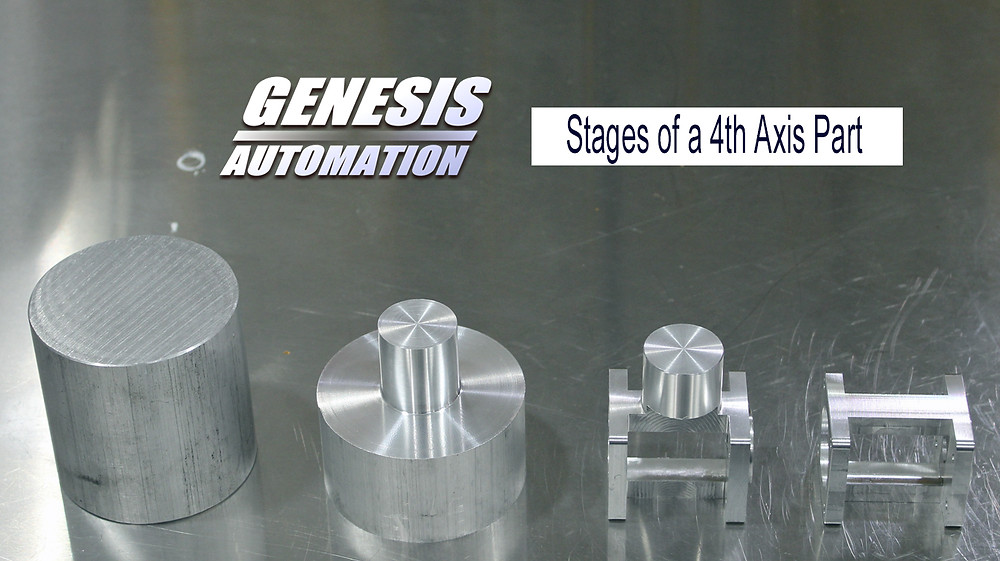 Stages of a 4th axis part
