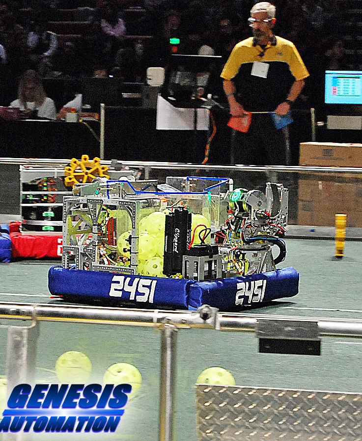 Student built robot at the First Robotics Competition