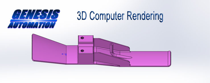 3D computer rendering of Genesis Automation machine part