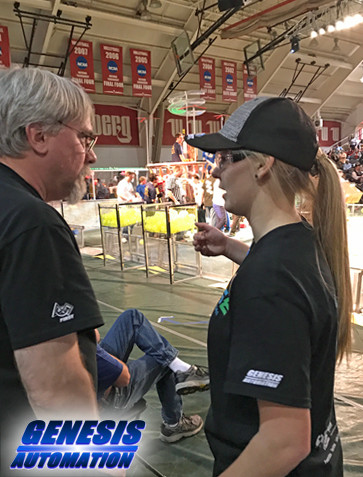 Ally Bowgren, 3 year FRC PWNAGE team member, at a competition