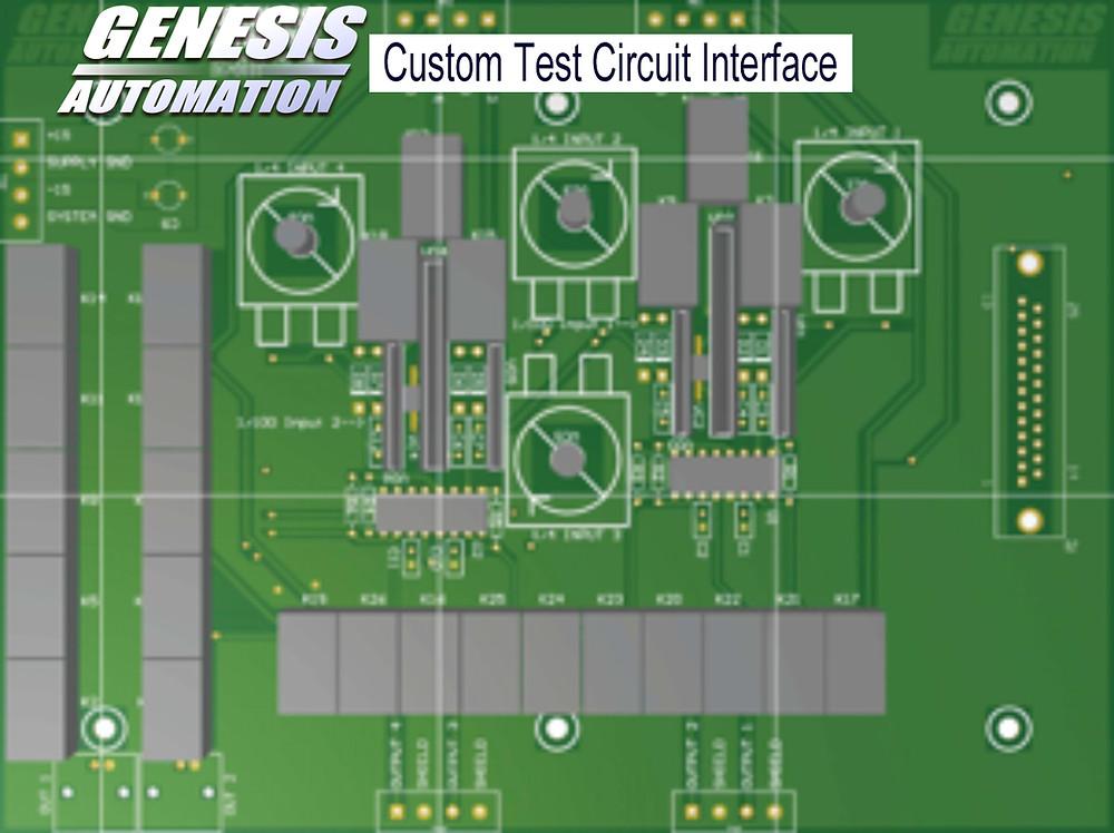 Custom test circuit interface