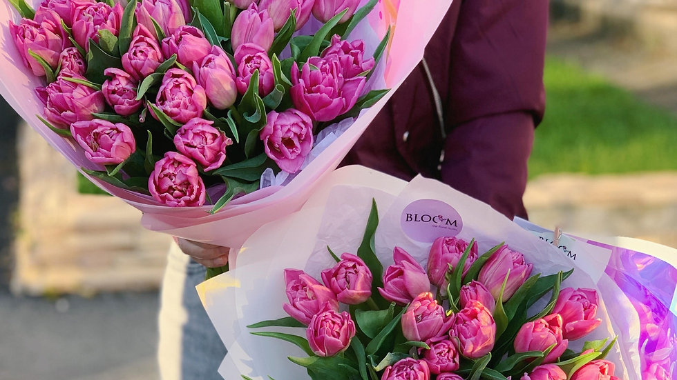 Монобукет из тюльпанов (25 штук)