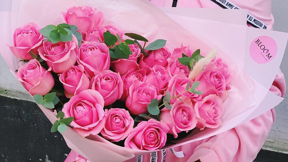Монобукет из роз (25 штук)