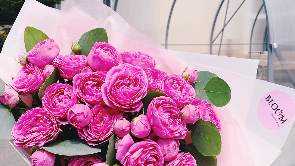 Монобукет из пионовидных роз (19шт)
