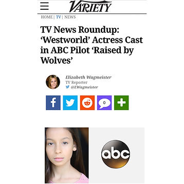 Variety announces Westworld Actress Izabella Alvarez Cast in ABC Pilot Raised by Wolves