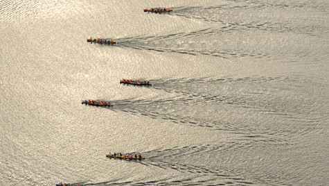 90 miler - war canoe start - Long Lake