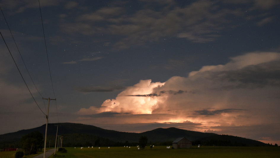 Norman Ridge, late night storm