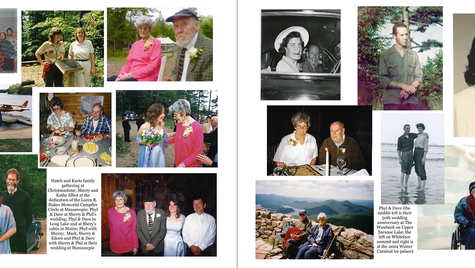 pages 46 & 47 - 2000s and collage of Phyl & Dave