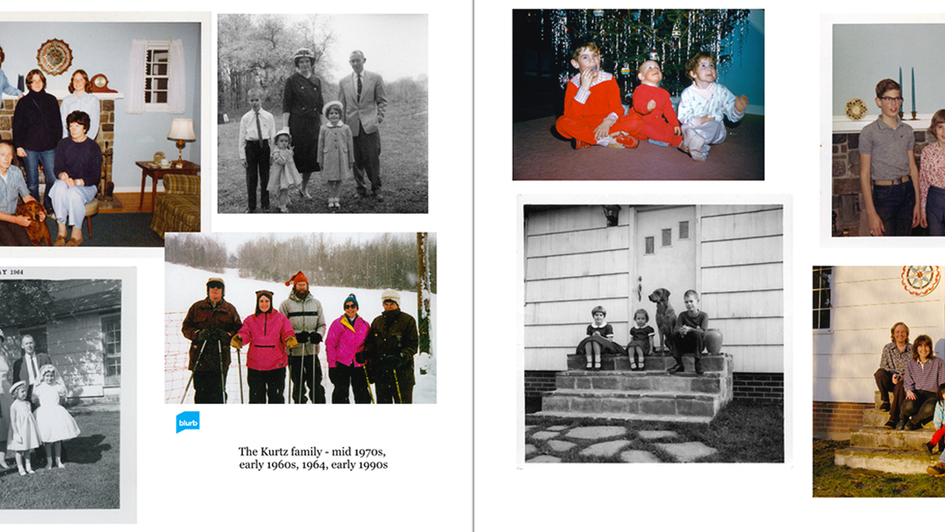 opening pages - Kurtz family & Kurtz kids through the years