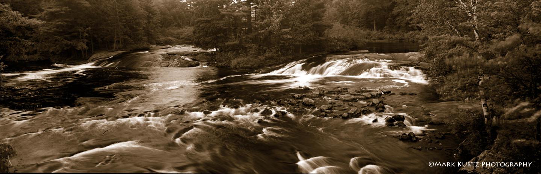 Bog River Falls from bridge