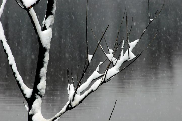 Saranac River, early snow